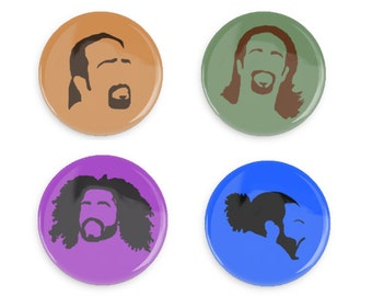 Hamilton Pin Buttons - Faces of Hamilton, Lafayette, and Jefferson
