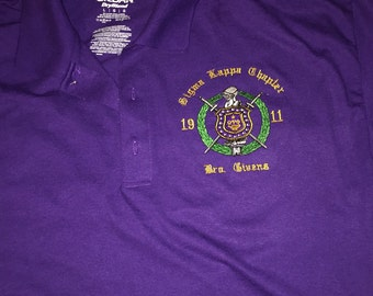 Omega Psi Phi Polo with chapter and name
