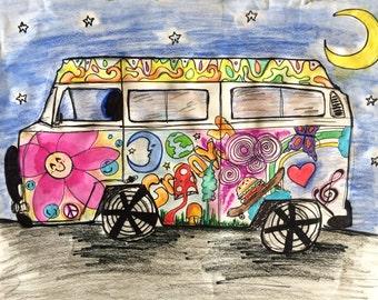 Volkswagen Bus Print