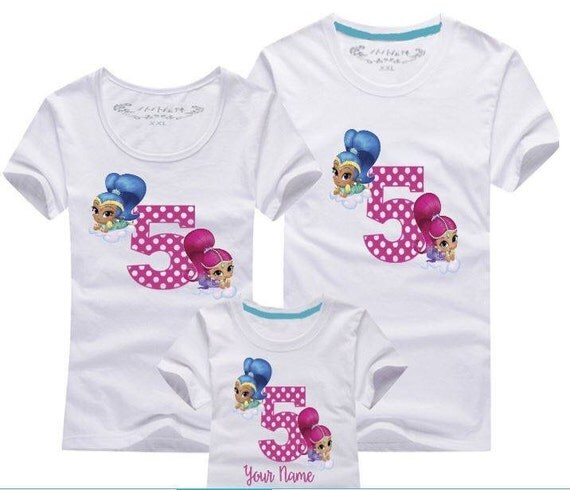 Fast shipping shimmer and shine birthday shirt mom by for Fast delivery custom t shirts