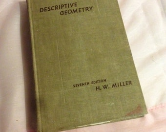 1941 Copy of Descriptive Geometry