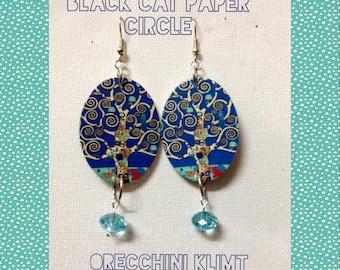 "Earrings ""Tree of Life-Klimt"""