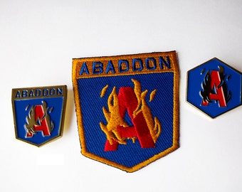 3 Piece Set of Abaddon Pins and Patches
