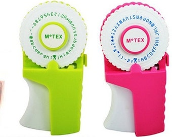NEW Motex E303 embossing label maker (emoticon, lowercase and uppercase) - 1 set with 9mm label tape