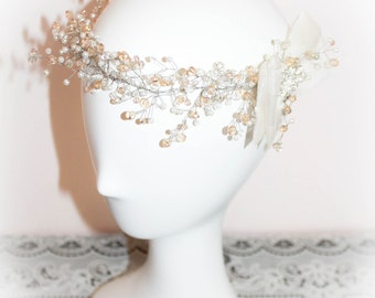 flower girl headpiece, first communion headpiece, girl headpiece, bridesmaid headpiece