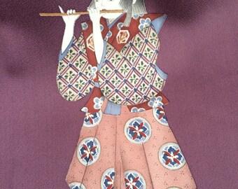 traditional print japanese kimono