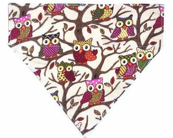 Dog Bandana, Owl Lover, Bandana, Dog Collar, Large Dog, Small Dog, Dog Lover, Gift for Her, Owl Gift, Dog Collar, Pet Accessories, Pet Gift