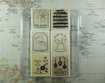 Tags so Much Retired Stampin Up Set of 6