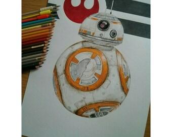 """Print BB8 Star Wars 7 DIN A3 12 """"× 17"""""""