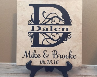 Personalized Wedding gift, Gift for Couple, Wedding Gift, Wedding Shower Gift, Last Name Established, Gift for Couple, last name sign