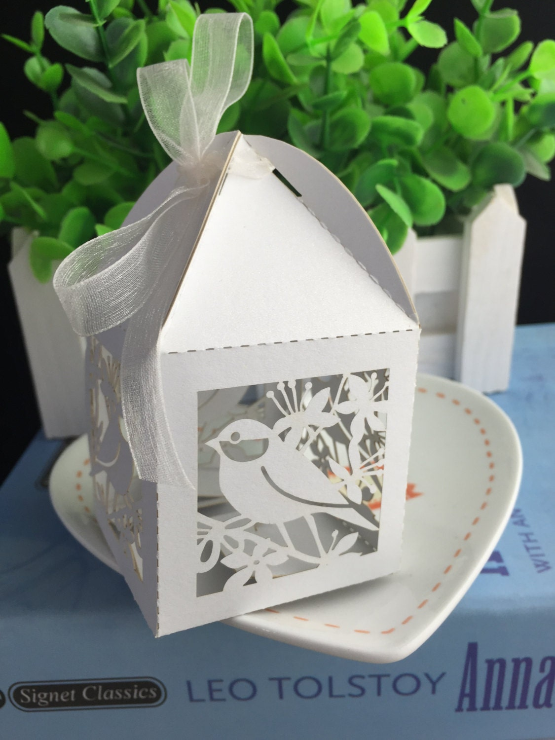 100pcs Free Shipping white Wedding Favor Boxes,Paper Handmade ...