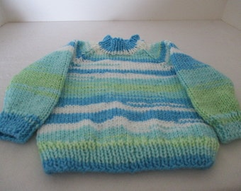 Hand knit infant sweater