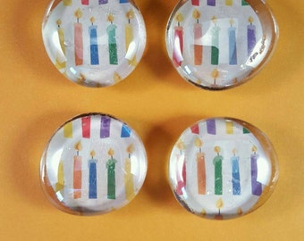 Decorative glass stone magnets