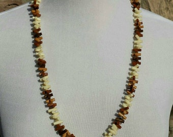 Vintage Twisting Beads Necklace - 70s