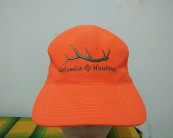 Rare Vintage COLUMBIA HUNTING Cap Hat Free size fit all