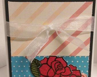 Glitter Roses Card