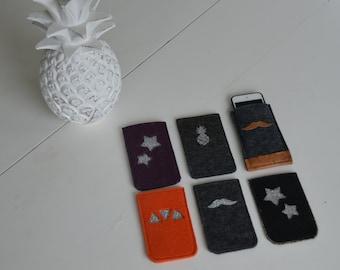 Housses de portable en feutre de laine
