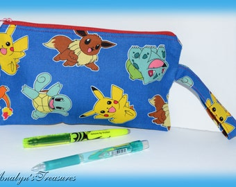 Pokemon Pencil Case, PokemonPencil Pouch, Pencil Pouch, Pencil Case, Handmade Pencil Pouch, Spongebob, Cosmetic Bag, Coin Purse