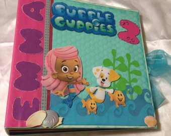 Bubble Guppies Scrapbook Mini Album, Photo Album, Memory Book