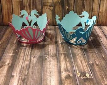 Mermaid Under the Sea Cupcake Wrappers-Mermaid Party