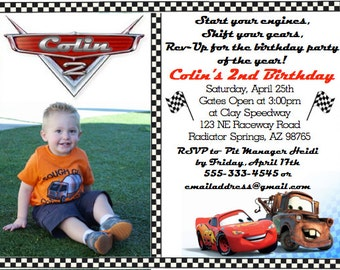 CARS Themed Birthday Invites & Thank You's