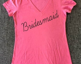 Bridesmaid shirt, bride shirt, bachelorette shirt, wedding party shirts