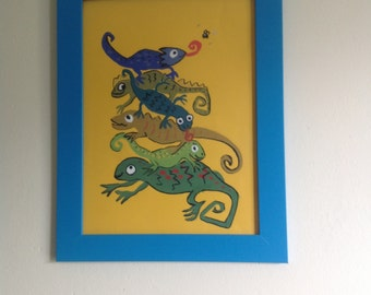 Animal painting for kids walls