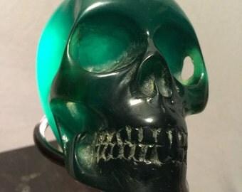 Green Resin Skull