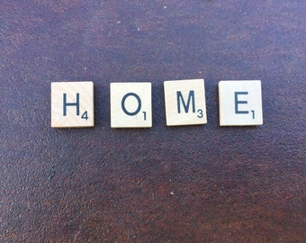 "magnetic ""HOME"" scrabble tiles"