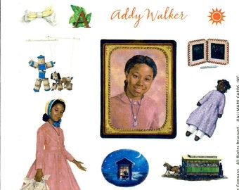 ADDY HALLMARK STICKERS / Retired 2001 / American Girl /. Pictures From First Books