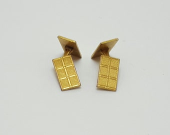 Vintage 1970 Cuff Links, Gold Tone, Collector Cuff Links, Free Domestice Shipping