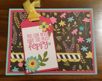 Happy // Congratulatory Greeting Card - StampingWithKaren