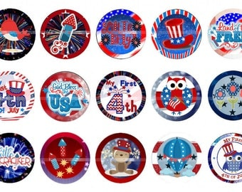 "Forth of July bottlecap images 4th of July bottle cap images  Digital 1"" Independance Day"