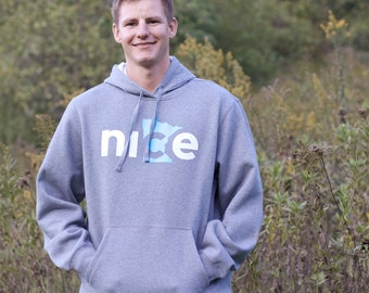 Nice Minnesota Hoodie, FREE SHIPPING - State Sweatshirt, Minnesota Nice Sweatshirt, Adult Hoodie, Pullover Hoodie