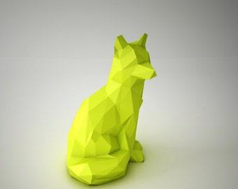 DIY PAPER SCULPTURES  - Clever Foxy Template