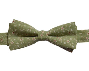 Floral bow tie, boy bow tie, Boys bow tie, cotton bow tie, bowtie with flowers