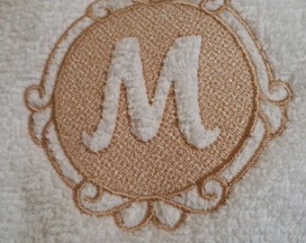 Embossed - Embroidered Monagrammed Hand Towel