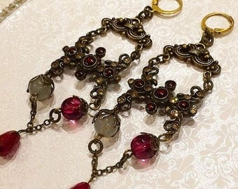 Gothic Vintage Style Theatre Earrings