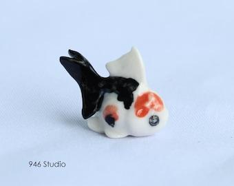 miniature goldfish ceramic