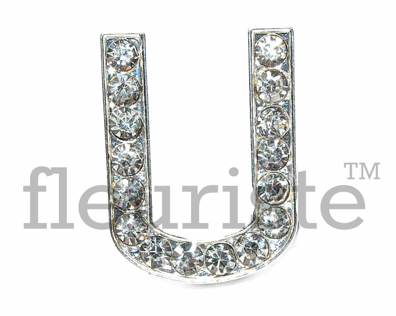 Letter u rhinestone bulk metal rhinestone rhinestone for Bulk letters