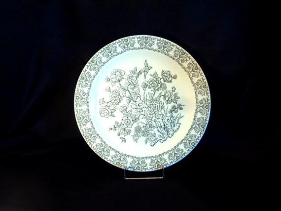 Royal China Green Underglaze 53 Round Chop Plate 12