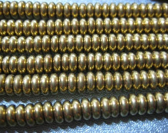 Gold Plated Brass Roundel Spacers 193pcs