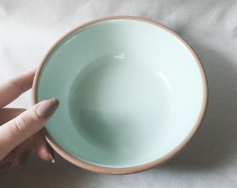 Blue and Brown Ceramic Bowl // Boho Chic Home Decor // Vintage Kitchen Dinnerware // Vintage Bowl (B5)