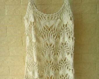 Women Crochet Vest Beach Cover Up