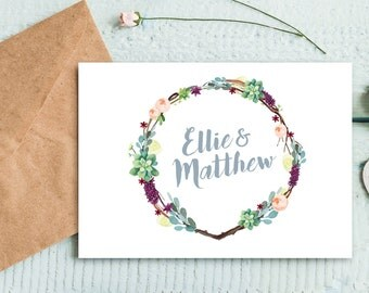 Personalized Floral Monogram