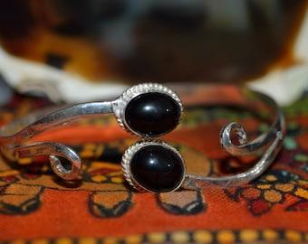 Black Onyx Spinal Cuff Bracelet