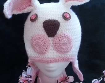 White rabbit crochet hat
