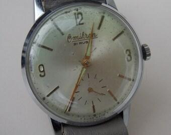 Swiss Omikron watch, 21 Rubis, working mechanical watch, gift idea, 1960, original watch, collector, unique watch, classic
