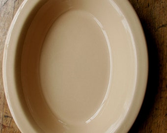 Tepco Mid Century Restaurant Ware LargeTan Oval Serving Bowl