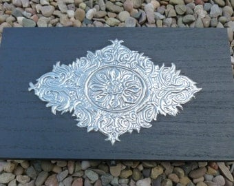 Vintage Style Hand Embossed Pewter Box